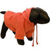 Pet Life Fashion Plush Cotton Hooded Dog Sweater, Orange, Medium