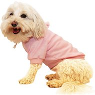Pet Life French Terry Hooded Dog Sweater, Pink, Large
