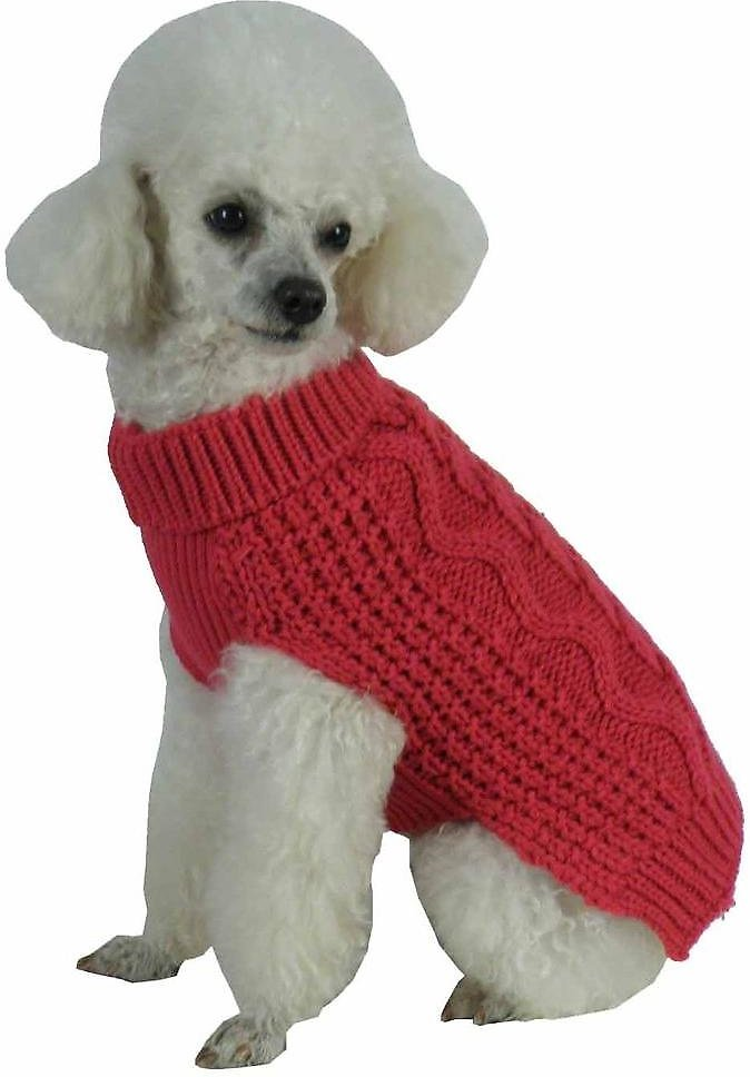 cbca4f226 Pet Life Swivel-Swirl Heavy Cable Knitted Dog Sweater