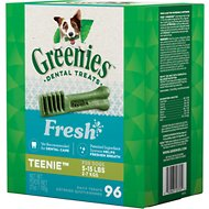 Greenies Fresh Teenie Dental Dog Treats, 96 count