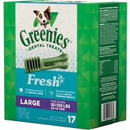 Greenies Fresh Large Dental Dog Treats, 17 count