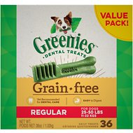 Greenies Grain-Free Regular Dental Dog Treats, 36 count
