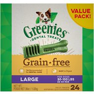 Greenies Grain-Free Large Dental Dog Treats, 24 count