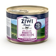 ZiwiPeak Rabbit & Lamb Recipe Canned Cat Food , 6.5-oz, case of 12