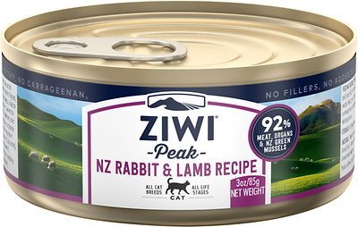 2. ZiwiPeak Rabbit and Lamb Canned Cat Food