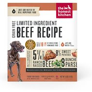 The Honest Kitchen Limited Ingredient Diet Beef Recipe Grain-Free Dehydrated Dog Food, 4-lb box