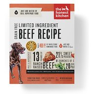 The Honest Kitchen Limited Ingredient Diet Beef Recipe Grain-Free Dehydrated Dog Food, 10-lb box