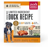 The Honest Kitchen Limited Ingredient Diet Duck Recipe Grain-Free Dehydrated Dog Food, 4-lb box