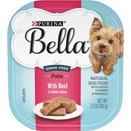 Purina Bella with Beef in Savory Juices Small Breed Dog Food Trays, 3.5-oz, case of 12