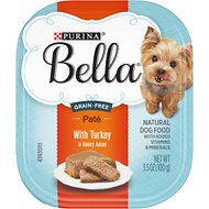 Purina Bella with Turkey in Savory Juices Small Breed Dog Food Trays, 3.5-oz, case of 12
