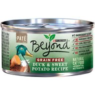 Purina Beyond Duck & Sweet Potato Pate Recipe Grain-Free Canned Cat Food, 3-oz, case of 12