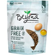 Purina Beyond Ocean Whitefish & Egg Recipe Grain-Free Cat Treats, 6-oz bag