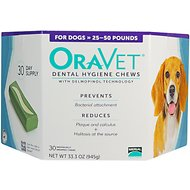 OraVet Dental Hygiene Chews for Dogs, 25-50 lbs, 30 count