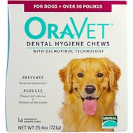 OraVet Dental Hygiene Chews for Dogs, over 50 lbs, 14 count
