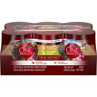 Purina ONE SmartBlend True Instinct Tender Cuts in Gravy Variety Pack Canned Dog Food, 13-oz, case of 6