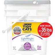 Tidy Cats LightWeight Clean Blossoms Scent Glade Tough Odor Solutions Clumping Cat Litter, 17-lb pail