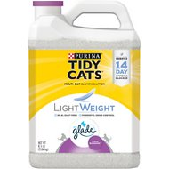 Tidy Cats LightWeight Glade Tough Odor Solutions Clean Blossoms Scent Clumping Cat Litter, 8.5-lb bag