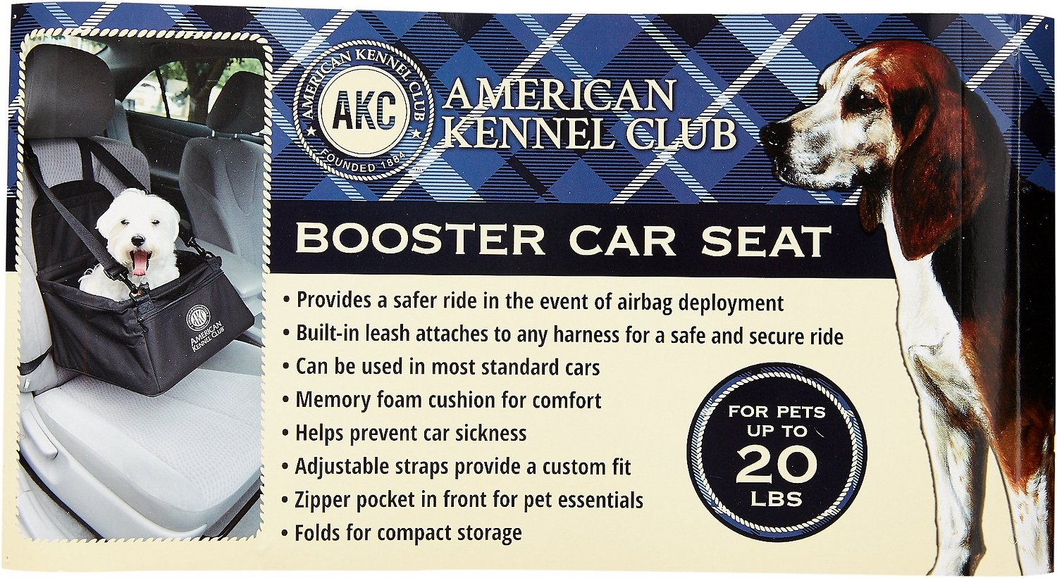 American Kennel Club Pet Booster Seat Red Chewy Com