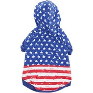 Zack & Zoey Distressed American Flag Dog & Cat Hoodie, Medium