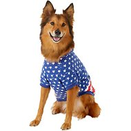 Zack & Zoey Distressed American Flag Dog & Cat Hoodie, Large