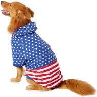 Zack & Zoey Distressed American Flag Dog Hoodie, X-Large