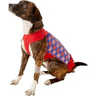 Zack & Zoey Patriotic Pooch Patchwork SPF Dog Dress, Medium