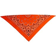 Top Performance Paisley Dog Bandana, Orange