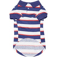 Zack & Zoey Patriotic SPF40 Dog & Cat Polo, Large