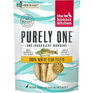 The Honest Kitchen Wishes Dehydrated White Fish Filets Dog & Cat Treats, 3-oz bag