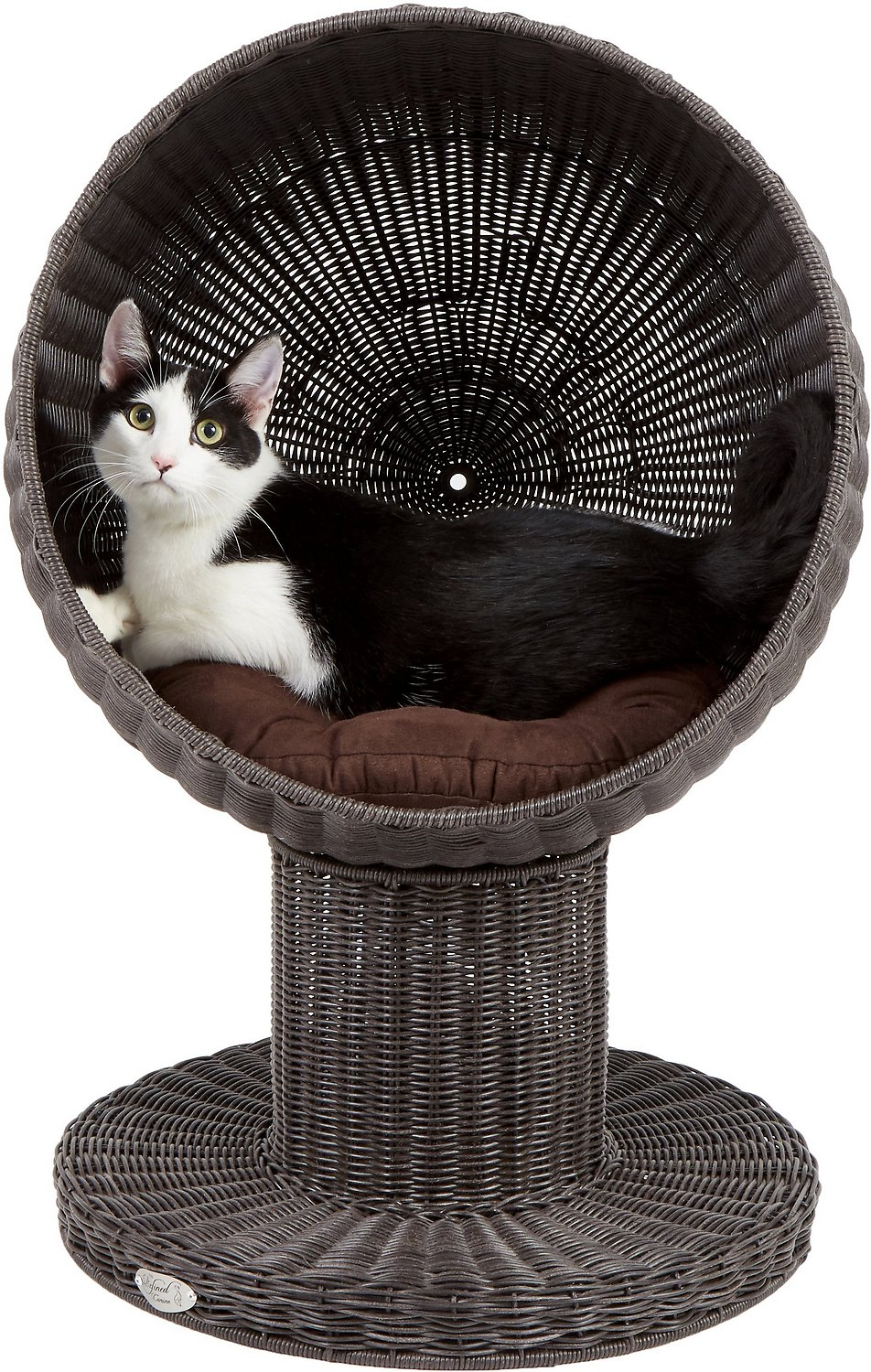 The Refined Feline Kitty Ball Cat Bed Espresso Chewy Com