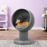 The Refined Feline Kitty Ball Cat Bed, Smoke