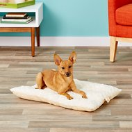 FurHaven NAP Ultra Soft Tufted Pillow Dog & Cat Bed, Latte, Small