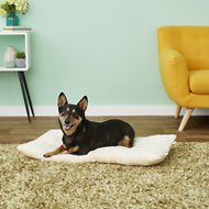FurHaven NAP Ultra Soft Tufted Pillow Dog & Cat Bed, Latte, Large