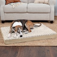 FurHaven NAP Ultra Plush Deluxe Orthopedic Dog & Cat Bed, Cream, Large