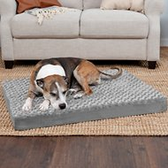 FurHaven NAP Ultra Plush Deluxe Orthopedic Dog & Cat Bed, Gray, Large