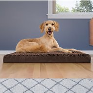 FurHaven NAP Ultra Plush Deluxe Memory Foam Pet Bed, Large, Chocolate