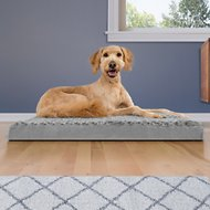 FurHaven NAP Ultra Plush Deluxe Memory Foam Dog & Cat Bed, Gray, Large