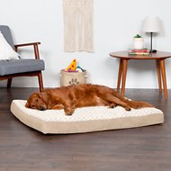 FurHaven NAP Ultra Plush Deluxe Memory Foam Dog & Cat Bed, Cream, Jumbo