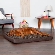 FurHaven NAP Deluxe Memory Foam Pillow Dog Bed w/Removable Cover, Chocolate, Jumbo
