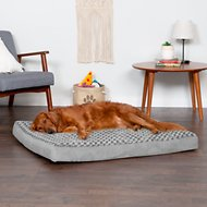 FurHaven NAP Ultra Plush Deluxe Memory Foam Dog & Cat Bed, Gray, Jumbo