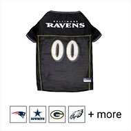 Pets First Baltimore Ravens Mesh Dog & Cat Jersey, Large