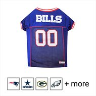 Pets First NFL Dog & Cat Mesh Jersey, Buffalo Bills, Large