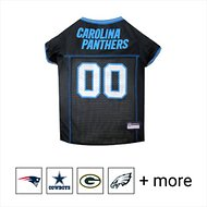 Pets First Carolina Panthers Mesh Dog & Cat Jersey, Large