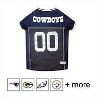 Pets First Dallas Cowboys Mesh Dog & Cat Jersey, Large