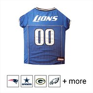 Pets First NFL Dog & Cat Mesh Jersey, Detroit Lions, Large