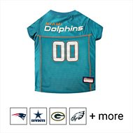 Pets First NFL Dog & Cat Mesh Jersey, Miami Dolphins, Large