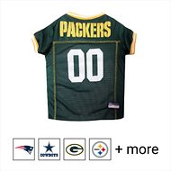 Pets First NFL Dog & Cat Mesh Jersey, Green Bay Packers, Large