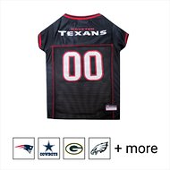 Pets First NFL Dog & Cat Mesh Jersey, Houston Texans, Large