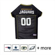 Pets First NFL Dog & Cat Mesh Jersey, Jacksonville Jaguars, Large