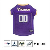 Pets First NFL Dog & Cat Mesh Jersey, Minnesota Vikings, Large